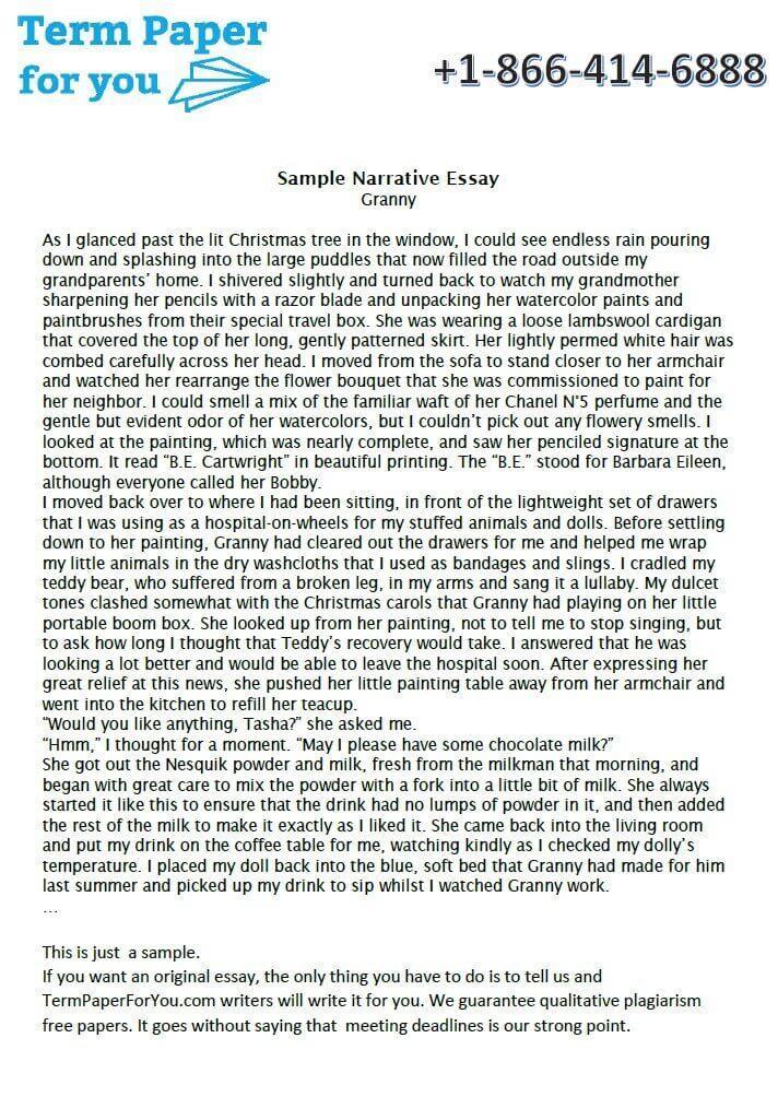 Sample Narrative Essay